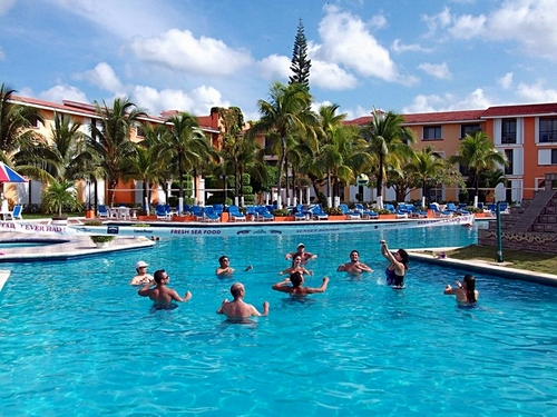 Cozumel beach and pool area Tour Tour