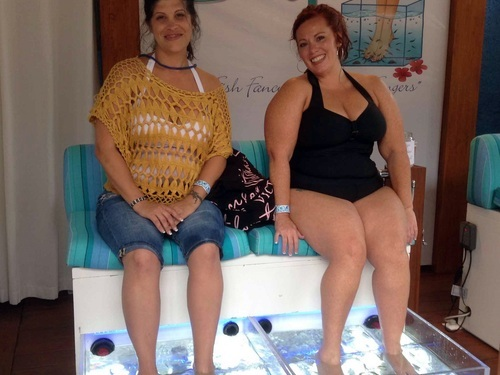 Cozumel Island fish pedicure Cruise Excursion Reservations