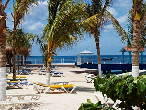 Cozumel Mexico beach and pool area Tour Excursion