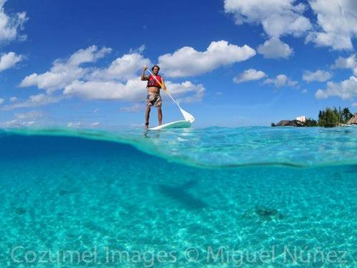 Cozumel cruise excursions stand up paddle board