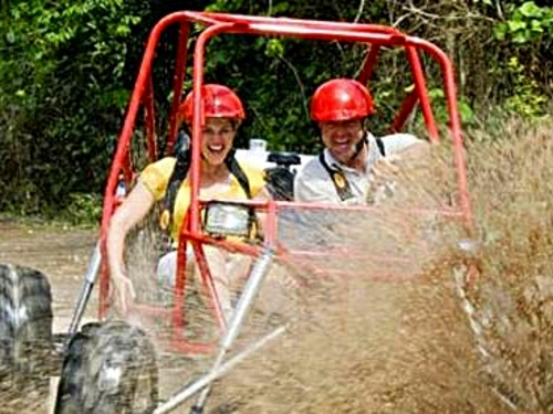 jungle xrail tour in cozumel to jade caverns