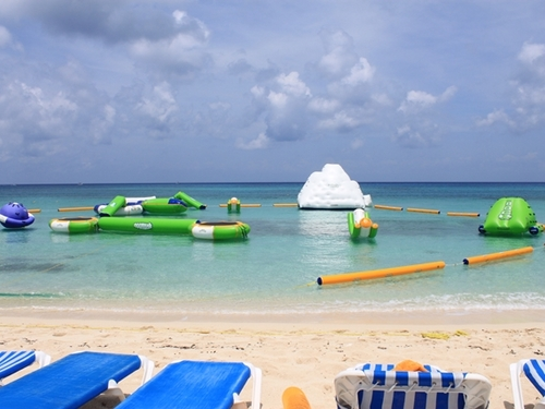 Kids park at Mr. Sanchos beach in Cozumel.