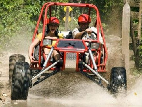 Off road buggy jade cave tour Cozumel Mexico