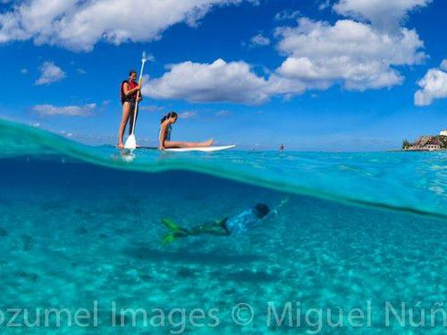 Paddle surfing shore excursions Cozumel