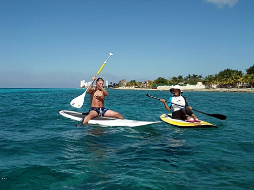 Cozumel paddle surfing shore trips