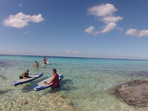 Standup paddle boarding in Cozumel
