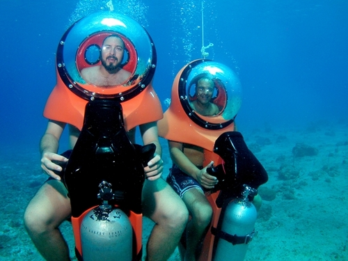 Underwater scooter tours in Cozumel